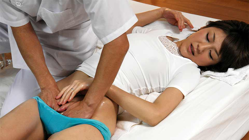 Sweet woman had a very good massage session