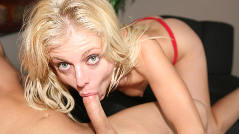 Angela Stone gives a deep throat gagging bj